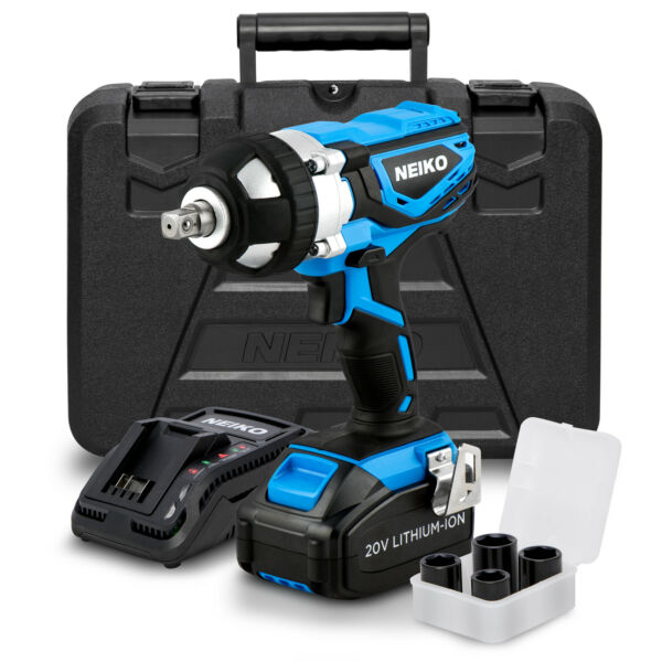 20V Lithium-Ion Cordless Impact Wrench | Socket Adapters Set 1/2