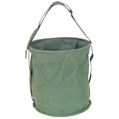 Water Bucket Pail Canvas New Collapsible 2 Gallon Olive Drab Green 11