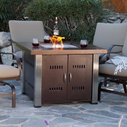 Outdoor Large Fire Pit Table Propane Gas Patio Deck Heater Fireplace Backyard