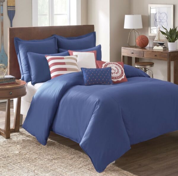 NEW SOUTHERN TIDE SKIPJACK CHINO KING 3 PIECE COMFORTER SET BLUE COVE