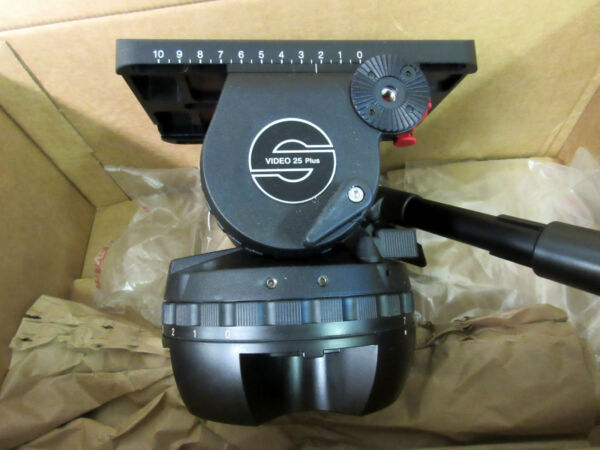 Sachtler VIDEO 25 PLUS FB Fluid Head (Flat Base) - Supports 11-80 lbs 2501P