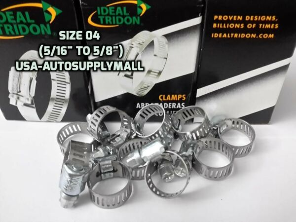 20 X IDEAL-Tridon Hose ClampsAbrazaderas Size 04 (08to16mm) Made in USA 5202
