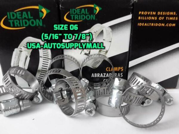 20 Pcs Hose Clamps Size 6  Abrazaderas (08 to22mm) Ideal Tridon