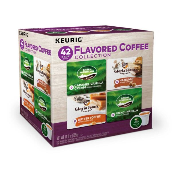 Flavored Variety Pack 42 count k-cups Keurig Brand Coffee
