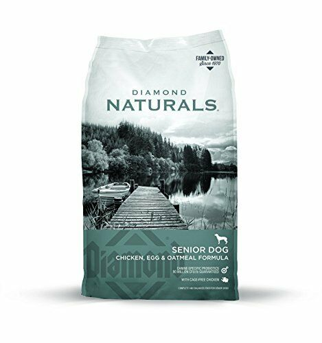 Diamond Naturals Dry Food for Senior Dogs 8+ Chicken Egg & Oatmeal 6 Pound Bag