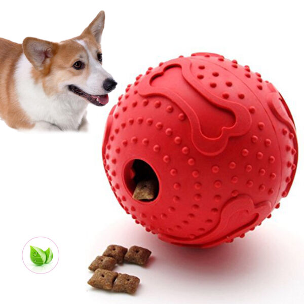 Dog Treat Ball Interactive Toy Pet Rubber Chew Toy Puppy Food Dispenser Thinkpet