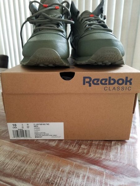 MEN'S REEBOK CLASSIC LEATHER MID SNEAKER LIFESTYLE Size 10