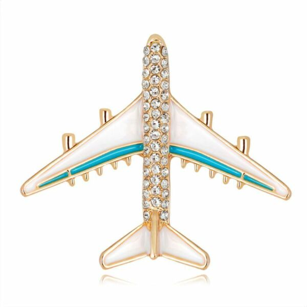 Plane Brooch Airplane Enamel Charms Jewelry Party Badge Banquet Scarf Pins Gifts