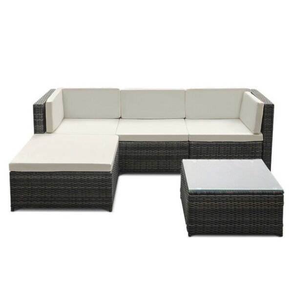 Wicker Outdoor Patio Furniture Sofa Set 5 Piece $440.00