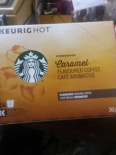 Starbucks Caramel Flavored Coffee Medium Roast K Cups 96 ct BBD MA 15 2018