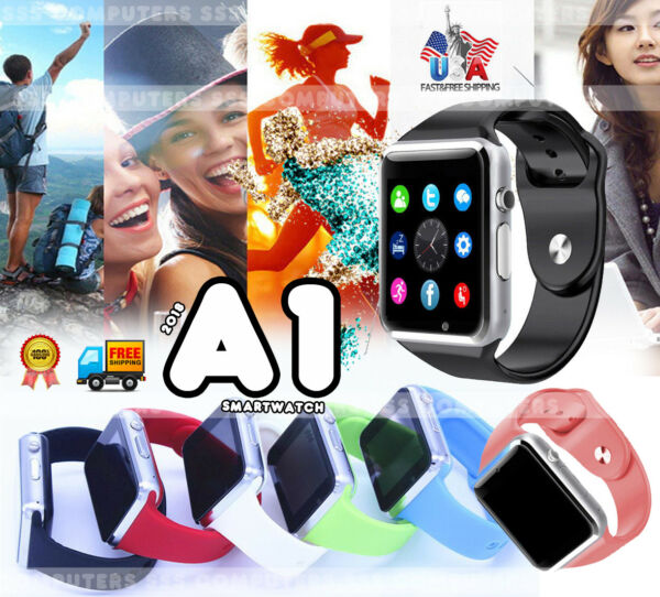 A1 W Smart Wrist Watch Bluetooth Waterproof GSM Phone For Android Samsung iPhone $14.99