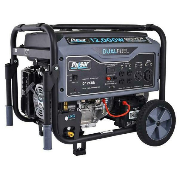 Pulsar 12000 Watt Portable Dual Fuel Propane Gas Generator Electric Start G12KBN $868.00