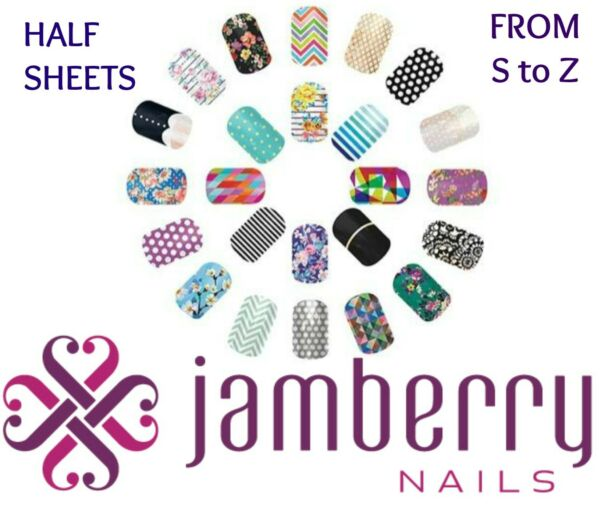 jamberry half sheets * S to Z * buy 3 & get 1 FREE!  NEW STOCK 1110  !! 🎁