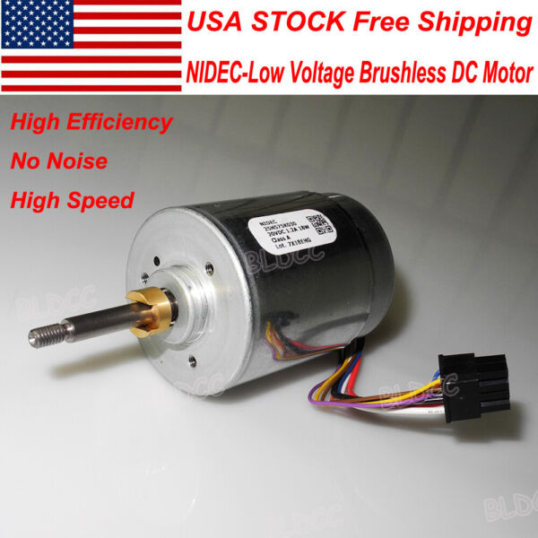 NIDEC 12V18V24V High Speed 18W Brushless DC Motor With Hall Dual Ball Bearing
