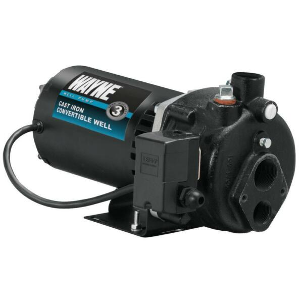 12 HP Convertible Jet Pump Deep or Shallow Water Well Cast-Iron Pressure Switch