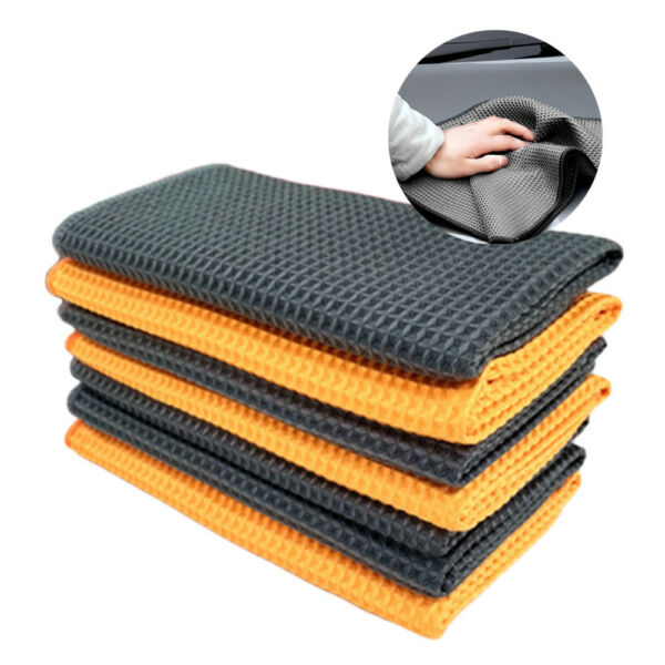 Absorbent Wax Polishing Cloth Microfiber Soft Wash Clean Tool Car Cleaning Towel