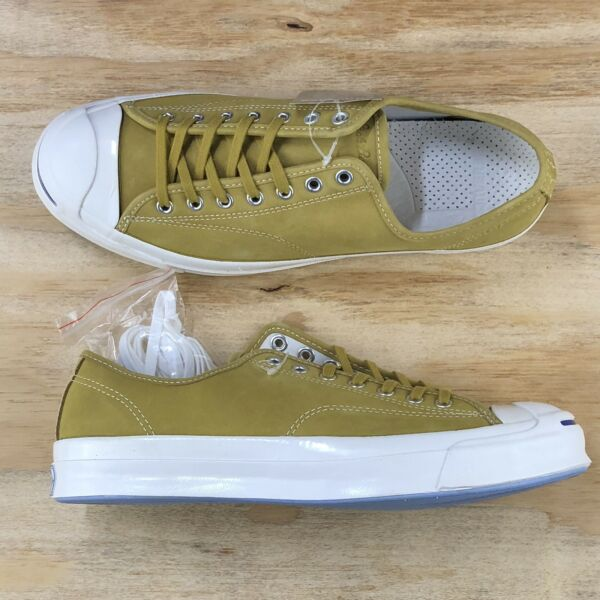 Converse Jack Purcell Signature Ox Yellow White Low Top Casual Shoe 153588C Size