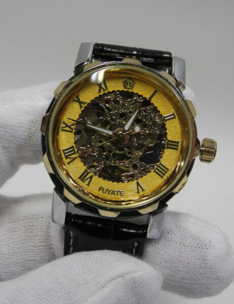 Skeleton Style Automatic Soft Sweep Analogue Fashion Watch Never Worn