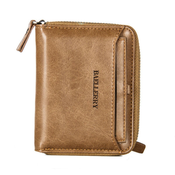 Men's Leather Business Wallet with COINS POCKET Zipper Purse new