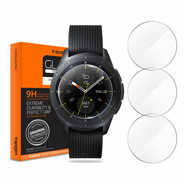 Spigen GlastR TEMPERED GLASS Screen Protector 3PACK Samsung Galaxy Watch 42 46mm