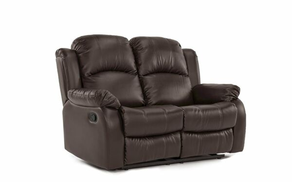 Classic Traditional Recliner Bonded Leather Reclining Love Seat Sofa Brown $399.99