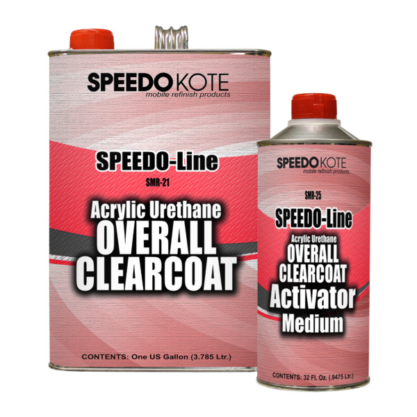 Automotive High Gloss Clear Coat Urethane SMR-2125 4:1 Gallon Clearcoat Kit