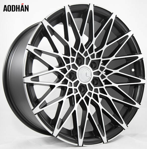 19X9.5 AodHan LS001 5X112 ET30 Matte Black Machined Face Wheels (Set of 4)