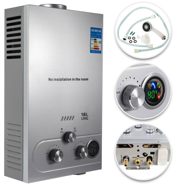 18L Tankless 5GPM Natural Gas Hot Water Heater Boiler Instant House