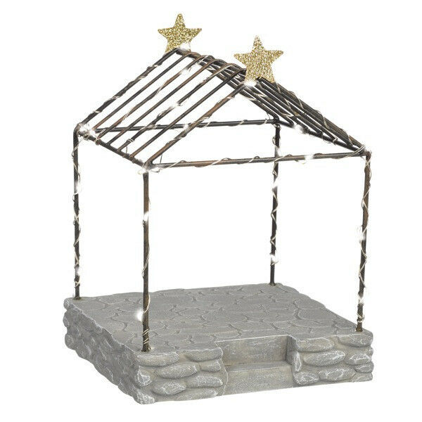 Miniature FAIRY GARDEN Nativity ~ Gnome for Holidays CHRISTMAS Light Up Pergola