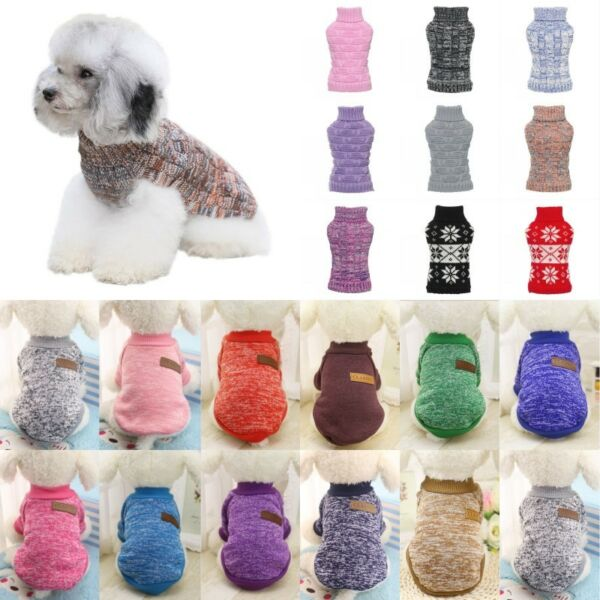 Dog Winter Warm Sweater Small Pet Coat Clothes Puppy Cat Jacket Apparel Costume