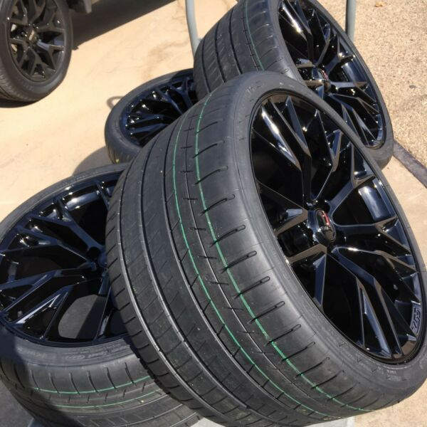 Black C7 Z06 Corvette Wheel Michelin Super Sport ZP Tire Package L@@K WOW