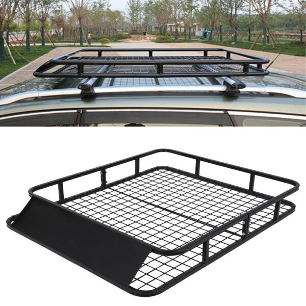 Universal Cargo Roof Top Rack Carrier Basket Rail Frame for Auto Luggage Travel
