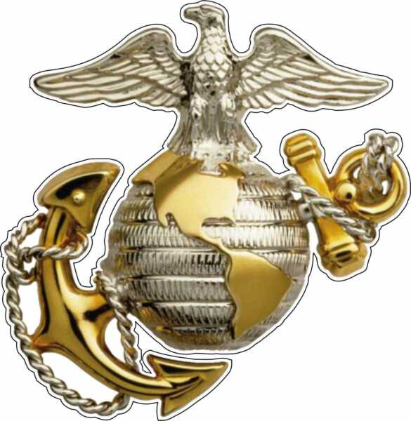 Marine Corps Eagle Globe & Anchor USMC EGA Bumper Window Sticker Vinyl Decal