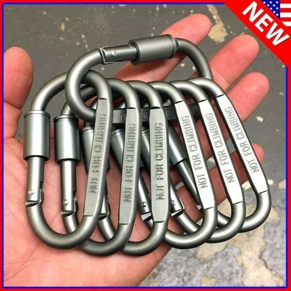 3pc 20pc Ideal Aluminum Carabiner D ring Keychain Clip Hook Buckle Outdoor $5.50