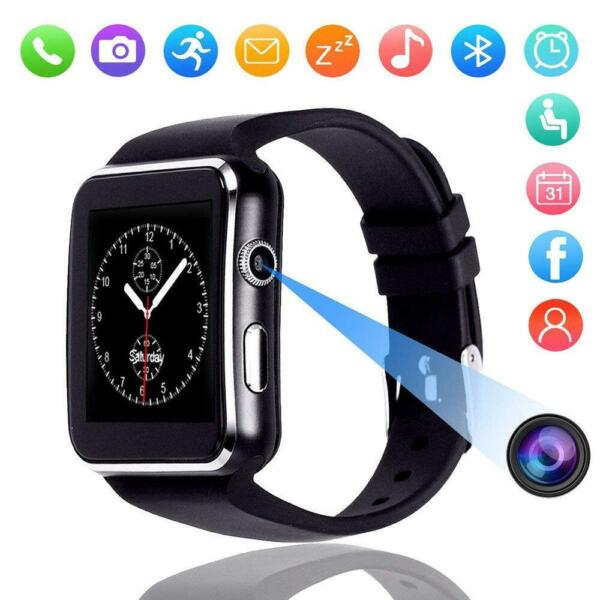 X6 Curved Screen Bluetooth Smart Watch Phone Mate Samsung iPhone Android iOS Lot