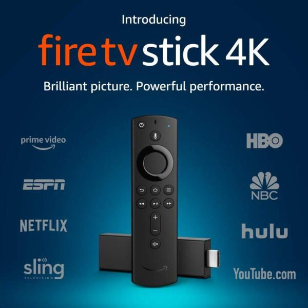 NEW Amazon Fire TV Stick 4K w Alexa Voice Volume Remote Latest 2019 Generation
