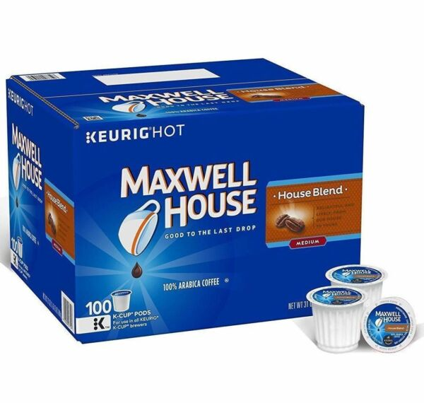 Maxwell House [100 K-Cups] House Blend Coffee 100% Arabica Coffee Keurig