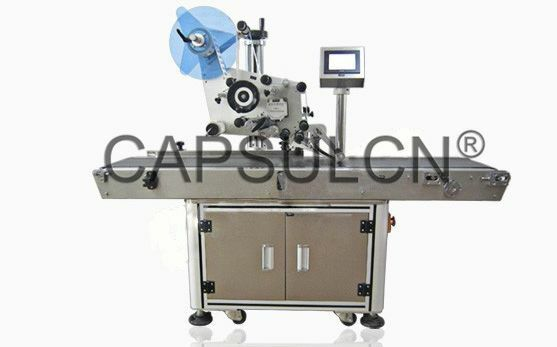 Automatic Top Labeler Flat Labelling Machine HSL-300 PP PE OPP CPP film Paper