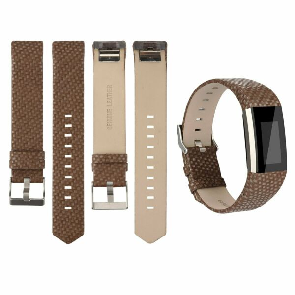 For Fitbit Charge 2 Genuine Leather Replacement Watch Strap Wristband 13 Colours
