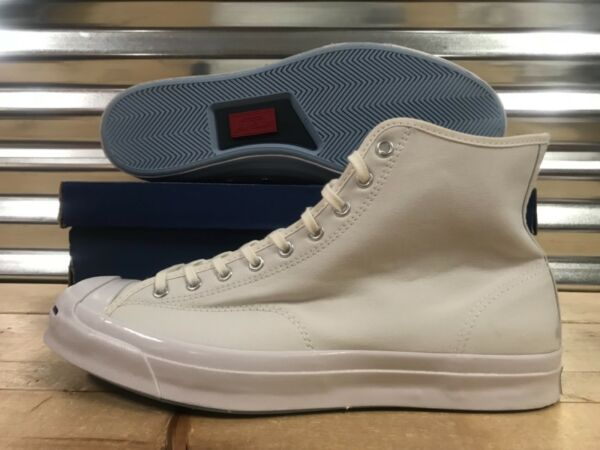 Converse Jack Purcell JP Signature Hi Top Sneakers Triple White SZ ( 153591C )