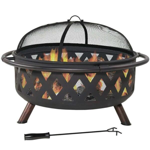 Fire pit patio bowl portable warm fire wood burning outdoorcamping 36