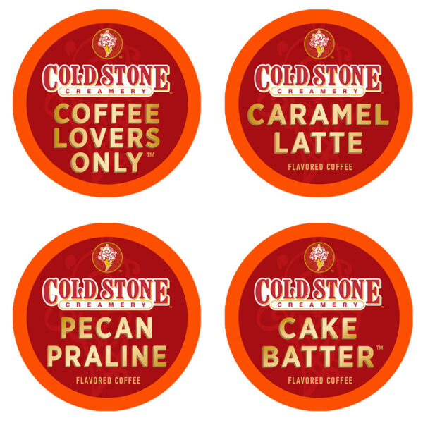 Cold Stone Single Serve Coffee K-Cups Variety Pack for Keurig 2.0 Brewer 48ct