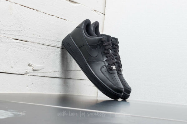 NIKE AIR FORCE 1 '07 LOW MEN'S SNEAKERS BLACK 315122-001 Size 8