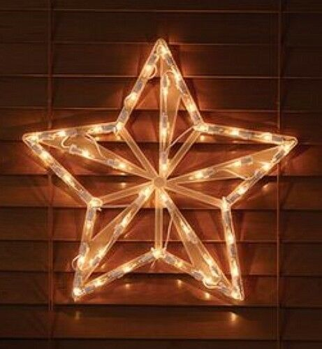 Christmas Star Window Wall Mantel Bright Cheery see from Street Holiday light