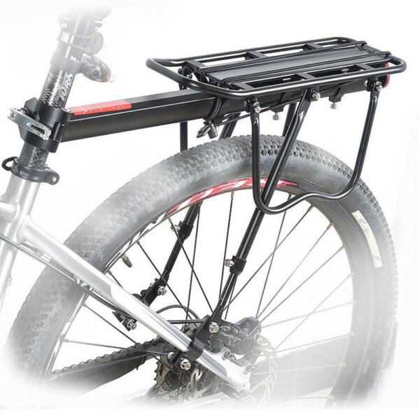 Bicycle Mountain Bike Rear Rack Seat Post Mount Pannier Luggage Carrier Metallic $22.99