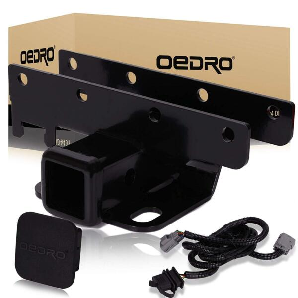 OEDRO Fit for 2007 2018 Jeep Wrangler JK Unlimited 2 inch Tow Trailer Hitch Kit $49.99
