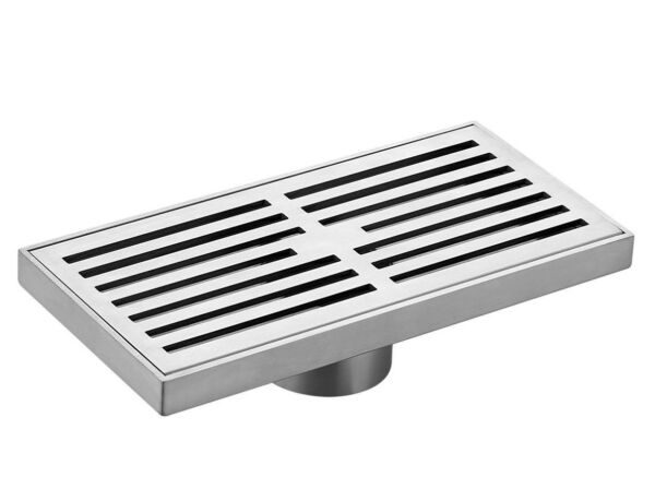 Kinetic RECTANGULAR SLOTTED FLOOR GRATE Stainless Steel- 200mm 300mm Or 400mm