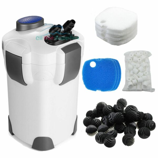 Aquarium Canister Filter 3 Stage 265 GPH FREE MEDIA Up to 75 Gal Fish Tank $73.99