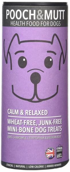 Pooch & Mutt Calm & Relaxed Hand Baked Dog Treats - 125g (Pack of 6)