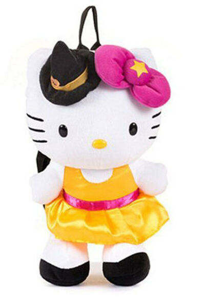 FAB Sanrio Hello Kitty Witch Halloween Costume 14quot; Plush Backpack Bag FP3068126